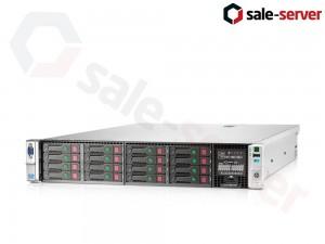 HP ProLiant DL380p Gen8 16xSFF / 2 x E5-2680 / 6 x 8GB / P420i 512M + P420 512M / 2 x 460W / SFP+